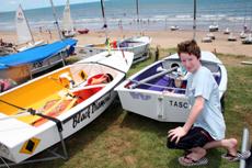 WAITING GAME: Tim Dey starts preparing to set sail.