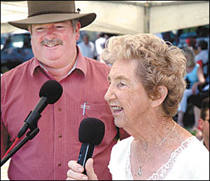 Maureen Trezise with Keith Rhoades.