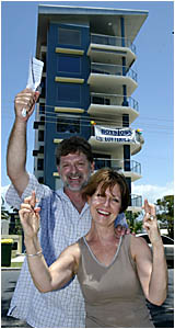 BRISBANE couple Steve and Christine Langridge hope their luck is in when the Boystown Lottery prize unit at Bilinga is drawn on