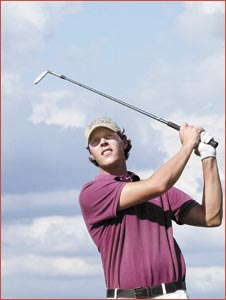 Justin Smith continued his golfing education at the Asian qualifying school. Image: Neville Madsen