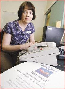 Telephone counselling training co-ordinator Susan Stevens.  Image:  NEVILLE MADSEN