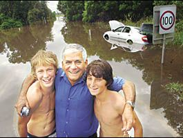 Floodwater had filled Butrose Tourky?s car to the roof. Trapped, he thought he was gone. Then his two saviours Jack Burke and S