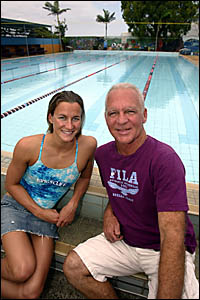 Kingscliff swim coach Greg Salter and backstroke star Sophie Edington have been named NSW coach and swimmer of the year respect