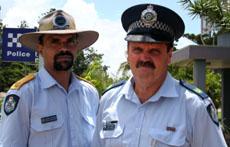 Yeppoon Police Liaison Officer Jason Chisholm (left) and Senior Sergeant John Hamrey.