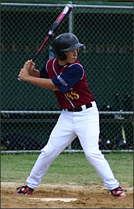 James Linger playing for the Australian Under-17 team in the World Series in Mexico last year.
