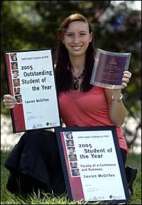LAUREN McGiffen of Pottsville is the Gold Coast Institute of TAFE?s Outstanding Student of the Year.