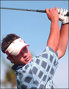 SWINGINGTIME: File photo of Luke Henwood in action.