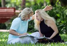SURVIVING LOSS: Judy McDermott and Daphne Louis.