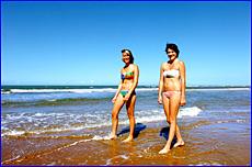 Heidi Bergqvist and Lauren Collins love living at Tannum Sands so close to the beach.