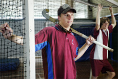 Rockhampton?s Aaron Harmsworth (left) is preparing to juggle his national hockey duties with his first year of teaching.