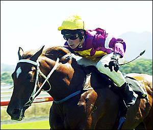 Former Coffs Harbour apprentice jockey Brett Poulus . . . confident a breakthrough is just around the corner.