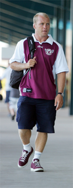 GAME ON: Manly Premier League coach and former international, Geoff Toovey arrived in Rockhampton yesterday.