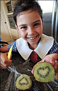 Jarrah Purvis-White finds romance in her kiwifruit.
