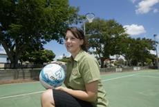 SHOOTING STAR: Rockhampton netballer Erin Currie.