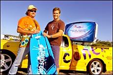 Coconet?s Tim Straatmans and Coconet Classic event coordinator Justin Diehm