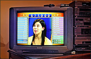Oh, the suspense . . . Prime TV viewers were left to stare at the face of this Deal or No Deal contestant for hours when the pi