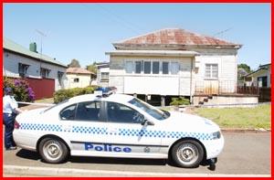 The scene of the murder in November 2004.
