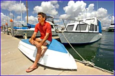 Brian Ford and other boaties are doubtful they will receive full compensation after the January oil spill.