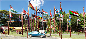 In a move set to rival the United Nations, Coffs Harbour City Council will in future approve requests to fly flags from differe