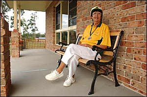 Brooms Head bowler Beryl Hellwig (pictured last year) has been appointed as the NSW co-ordinator of the Australian Blind Bowlin