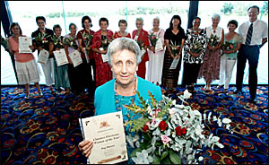 Peg Mavin was named the Clarence electorate?s Woman of the Year at a function at the Grafton Services Bowling Club yesterday. W