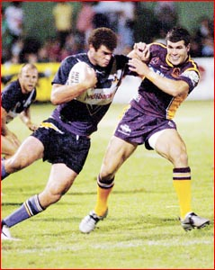 Billy Slater in action. Picture: NEVILLE MADSEN