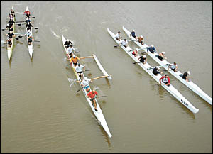 Members of the Coffs Coast Outrigger Club were out on the swollen waters of the Kalang River at Urunga on Sunday training for t