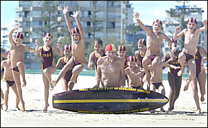 GRAEME ?Buck? Rogers, at 59 years of age, is the oldest active patrol member of Greenmount Surf Life Saving Club. Mr Rogers is