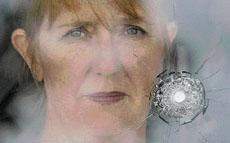 SMASHED GLASS: Vicki Bastin-Byrne.
