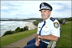 The Tweed?s new police chief, Superintendent Michael Kenny, pictured yesterday at Pt Danger, is looking forward to the challeng