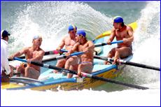 Tannum Turbos Tony Davis (sweep, left), Jason Bedford, Joel Sherwood, Matt Bellert and Shannon Chynoweth.