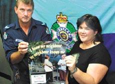 Senior Constable Mark McLachlan and Jasmin Cameron