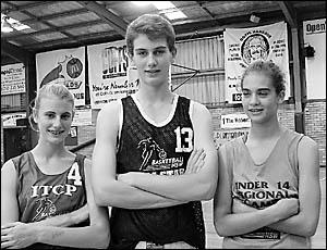 Jessica Bailey, Simon Cross and Hayley Cassell.