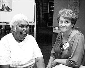 Daphne Flanders and Pam Lukey, two grandmothers who are both full-time carers for grandchildren, gave first-person accounts of