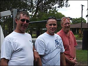 Valley tradesmen Byron McLennan, left, Kent Herman- sen and Steve Baker.
