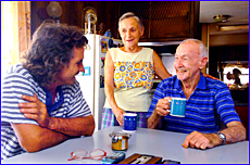 Ex-Clinton Van Park residents Mark Rochford and Colleen and George Emerson start a new life.