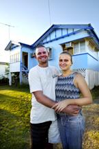 BRIGHT FUTURE: New parents Blake and Sarah Thomasson.