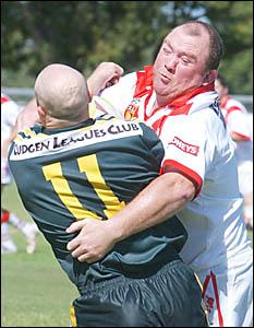 The South Grafton Rebels doing it tough against Cudgen.