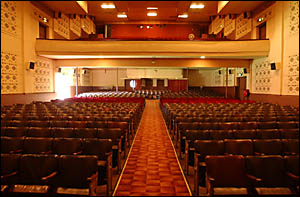 Inside the Saraton Theatre?s auditorium as it stands today.