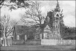 The original timber Anglican church.