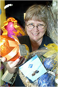 KAREN Hare of Darrell Lea Chocolates, Tweed Heads, is not related to the Easter Bunny, but she has been almost as busy as the m