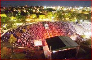 Australian Gospel Music Festival crowd. Pic: KEVIN FARMER