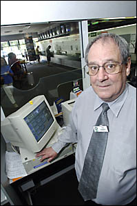 Ted Tanner at the former Grafton TAB building