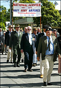 EX-SERVICEMEN in the Anzac Day parade in Murwillumbah.