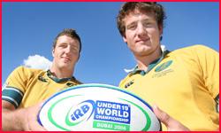 Daniel Linde (left) and Brett Gillespie. Photo: Chris Ison