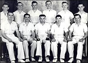 St Mary?s Colts Cricket Club, joint premiers CRCA 1948-49 season. Left, back row, Alan Fitzsimmons, Arthur Cooper, Ray Watts, J