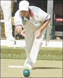 Coffs Ex-Services bowler Kent Price is district singles champion.