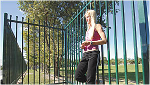 Talented athlete, Tina Sherratt contemplates what it would be like if Coffs Harbour had its own running track.