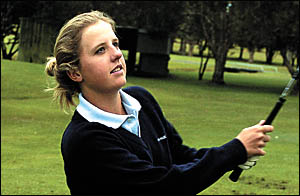 Coffs Harbour golfer Emma de Groot . . . collected a State title at the All Schools Championships.