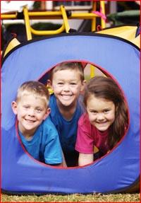 The Balderson children, Sam (3), Jack (6) and Elivia (4). Pic: SCOTT FLETCHER